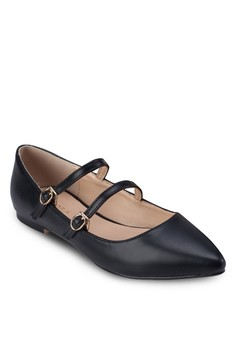 Double Straps Pointed Ballerinas