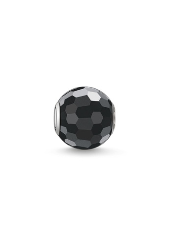 THOMAS SABO black Karma Bead Obsidian Faceted F10BEAC0ACF7A5GS_1