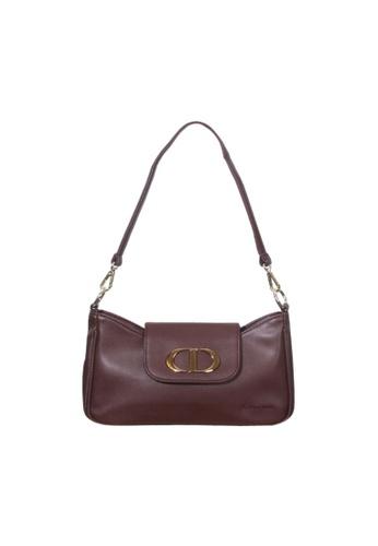 Verchini brown Verchini Classic Sling Handbag A743CAC5B38ED8GS_1