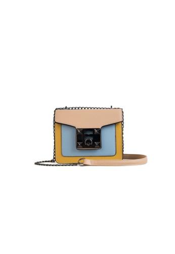 Lara multi Women's Color-Block Chain Sling Bag 3737AACEAC0F8EGS_1