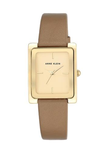 Anne Klein gold and brown Anne Klein Ladies - Leather Strap Watch - AK-2706CHDT AN844AC0RH84MY_1