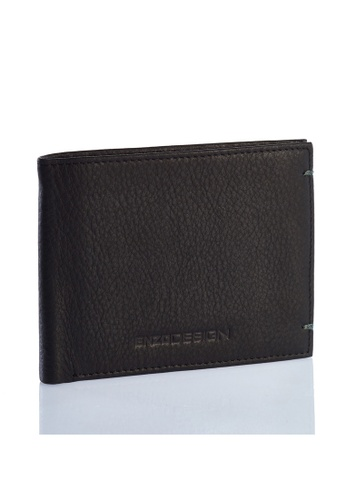 ENZODESIGN black and green Ultra Soft Cow Leather Slim Bifold Wallet EN357AC0GRD2SG_1