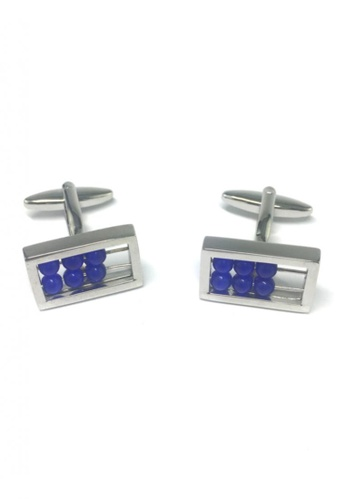 Splice Cufflinks blue and silver Blue Abacus Board Cufflinks SP744AC51FRSSG_1