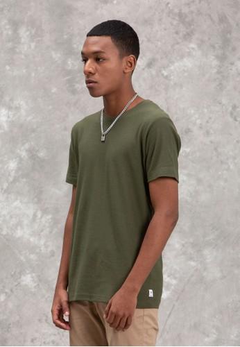 TIRAJEANS green Basic T-Shirt DCFDFAA75132A4GS_1