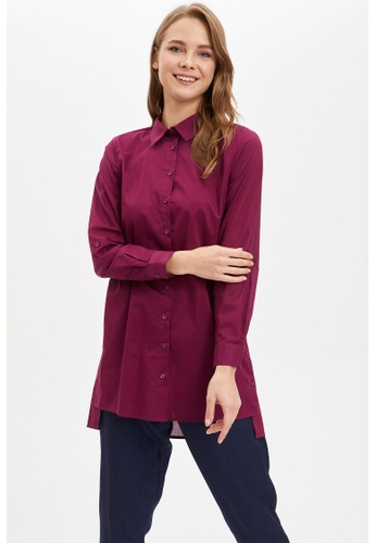 DeFacto purple Woman Long Sleeve Woven Tunic 325A0AA28C4301GS_1