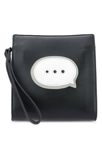 Something Borrowed black Icon Pouch 69A1EACB4E07F7GS_1