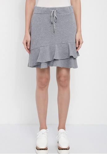 Dkny grey DKNY Women French Terry Ruffle Skirt 8FA8CAA4FDA54FGS_1