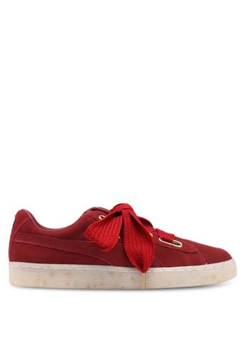 Puma red Suede Heart Fabulous Shoes PU549SH0SWEZMY_1