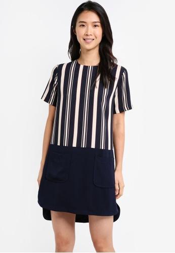 ZALORA multi Colorblock Patch Pocket Dress 8F531AA2D110B1GS_1