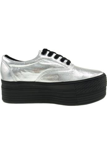 Maxstar silver Maxstar Women's C50 5 Holes Platform PU Low Top Sneakers US Women Size MA164SH67PRSSG_1