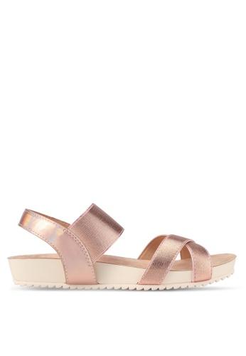 VINCCI pink Strappy Sandals VI831SH0SY6PMY_1