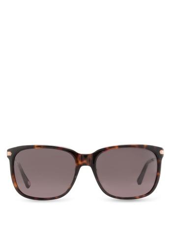 Fossil black Sleek Rectangular Sunglasses FO164GL70HSNMY_1