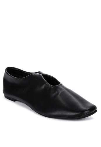 ABOUT A GIRL black Square Toe Ballet Flats 1E216SH4B07739GS_1