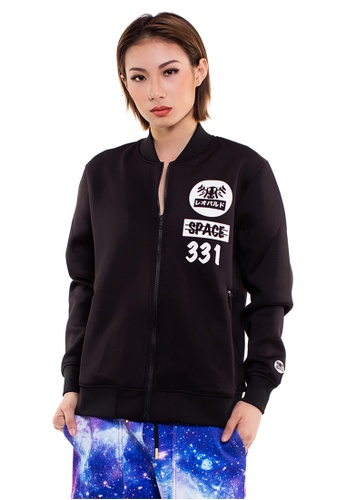 Reoparudo black RPD Cross Space Neoprene Bomber Jacket (Black) RE413AA0GJTISG_1