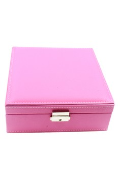 Plain Weave Leather Portable Jewelry Box JBCP-002
