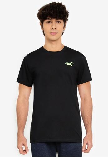 Hollister black Exploded Icon T-Shirt 7CDB8AAAA868ABGS_1