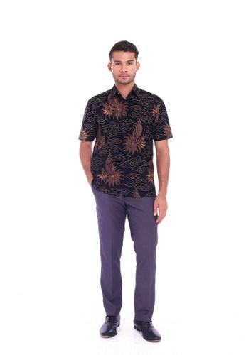 TUSCA black Eusoff Classic Batik Shirt D6FEFAAAF793F1GS_1