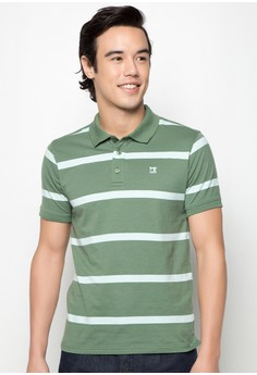 Slim Fit Stripes Polotee