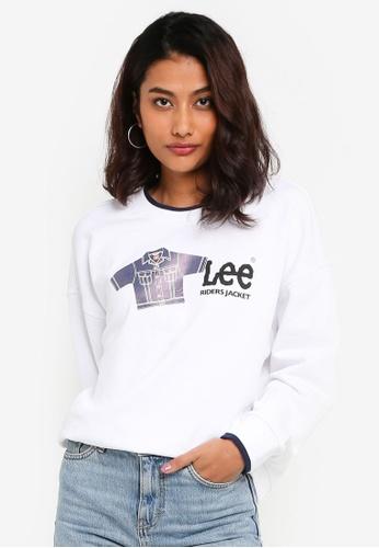 Lee white Women Long Sleeve Sweatshirt 8D94AAA69D67E0GS_1