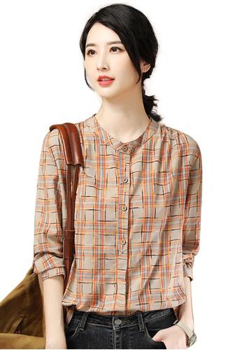 A-IN GIRLS multi Retro Check Long Sleeve Shirt D3317AA6D95214GS_1