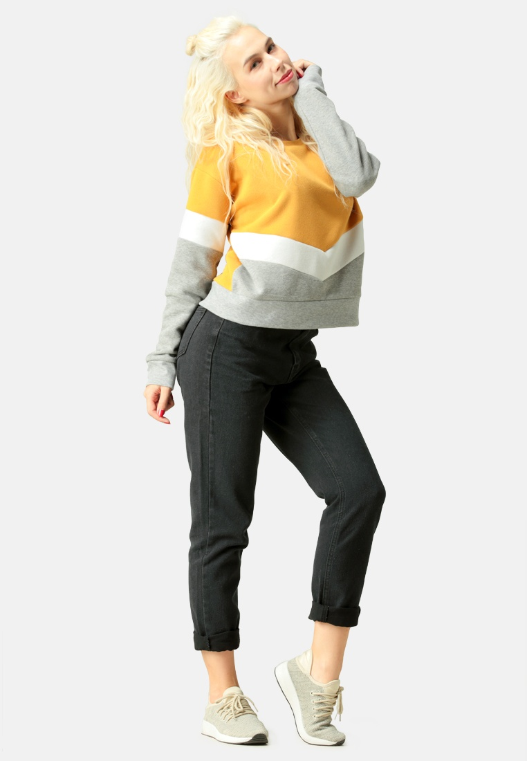 Rag Block London Color Mustard Sweatshirt qxAX6qfwt
