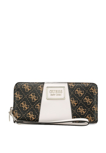 Guess brown Tyren Sling Large Zip Around Wallet 390D2ACE858BB4GS_1