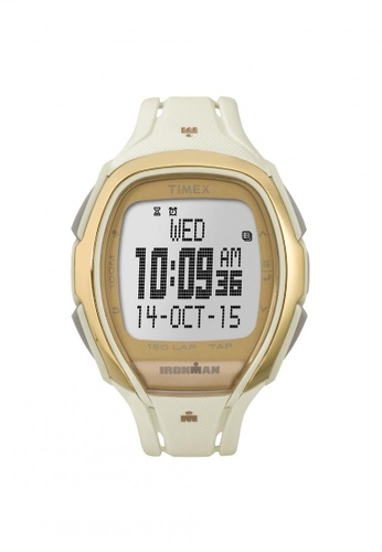 TIMEX white Timex IRONMAN® Sleek 150 - White Resin Strap (TW5M05800) TI857AC72QQLSG_1