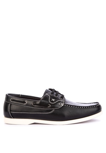H2Ocean black Taras Casual Boat Shoes Lace up B4563SH07DD9F9GS_1