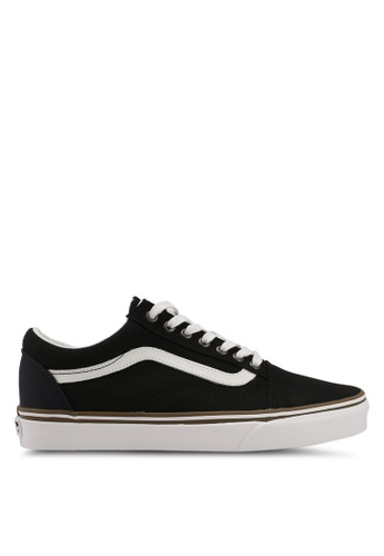 VANS black and white Old Skool Sun Faded Sneakers VA142SH0SWOFMY_1