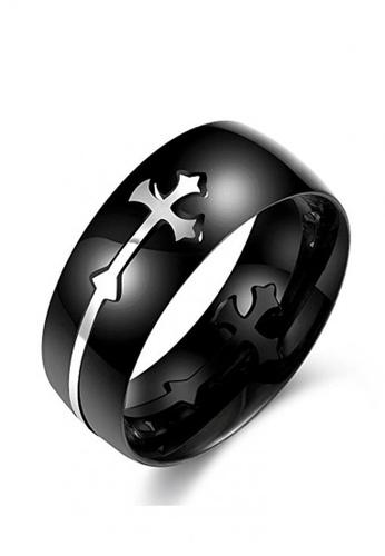 Sopistikada black Omen 316 Stainless Steel Ring 9B08FACCDFB745GS_1
