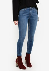 Cotton On blue Mid Rise Push Up Skinny Jeans CO372AA0RNBPMY_1