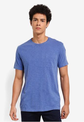 J.Crew blue Garment Dye Slub Jersey Tee E9D8BAAAC1605DGS_1