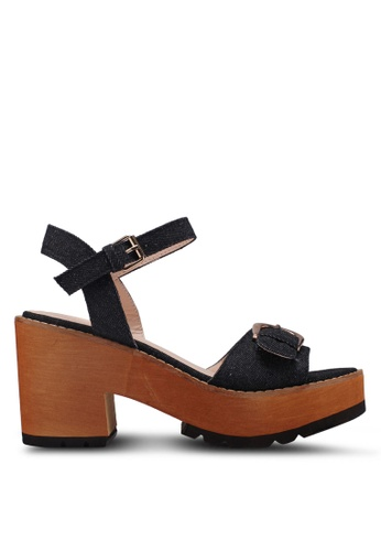 Something Borrowed black Denim Platform Heels 3F400SH9B56C6DGS_1