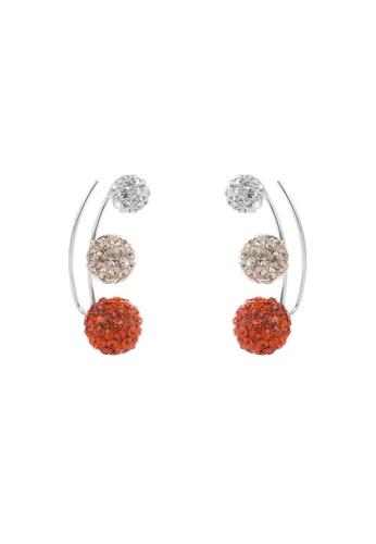 BOUTIQUEHK orange Crystal Earing 012B5AC29B565AGS_1