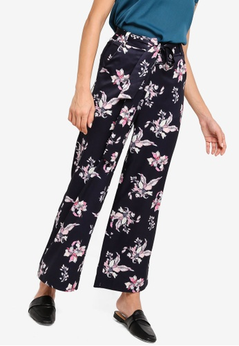 ZALORA multi and navy Wide Leg Pants FA041AAC420559GS_1