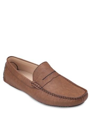 經典圓頭仿皮樂福鞋,zalora 台灣 鞋, 船型鞋
