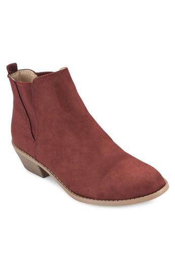 esprit台灣官網麂皮粗跟短靴, 女鞋, 鞋