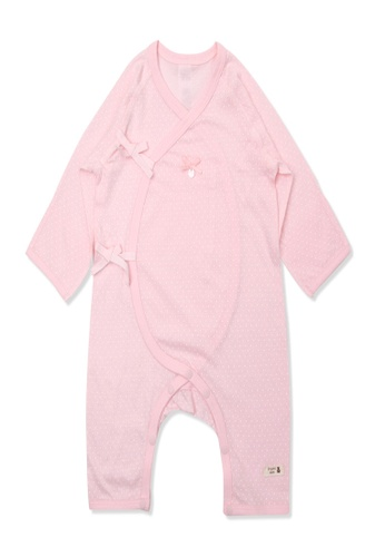 Organic mom pink Organic Cotton Karon Gift New Born Swaddle Gown 6E115KA9D73FDDGS_1