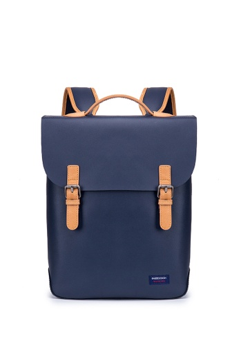 ENZODESIGN navy ENZODESIGN Robust Causal Cow Leather Backpack 2DB31AC4C19633GS_1