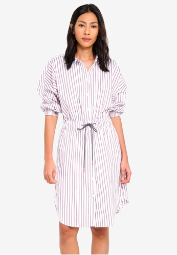 ESPRIT white Light Woven Midi Dress 05300AA5719D6FGS_1