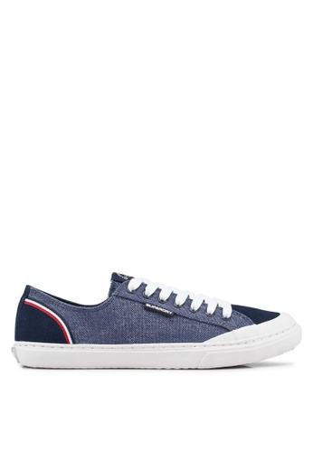 Superdry navy Retro Low Pro Sneakers 51609SHF233A71GS_1
