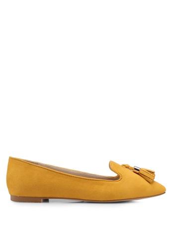 ZALORA 黃色 Loafer Flats With Tassels 901BCSH8AEB139GS_1