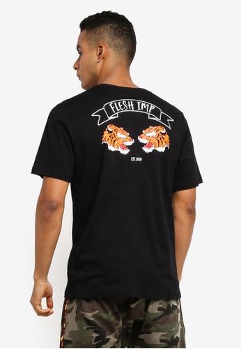 Flesh IMP 黑色 Siberian Printed T-Shirt BF5CBAA430D6F2GS_1