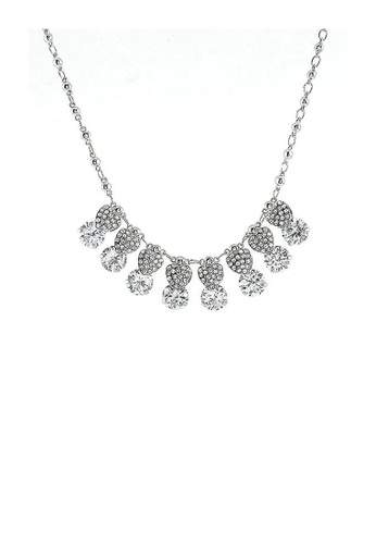 Glamorousky silver Glimmering Necklace with Silver Austrian Element Crystal 94F9FACE3CB324GS_1