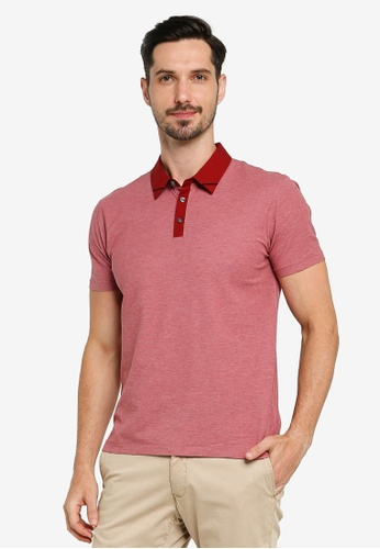 G2000 pink Woven Collar Polo Shirt 369D8AAB8A09F3GS_1