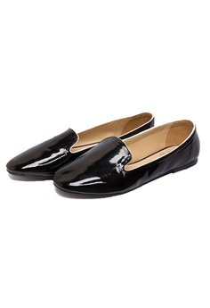 Paige Patent Loafer Black