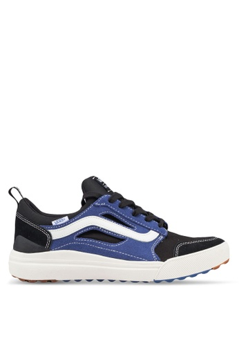 VANS black and blue UltraRange 3D Check Sneakers 8A972SH4282434GS_1