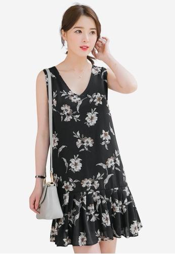 Sesura black Polished Femme Dropwaist Dress D6B72AA848BFC4GS_1