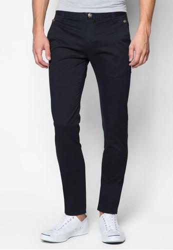 刺繡邊飾休閒長褲, 服飾, 長zalora時尚購物網評價褲