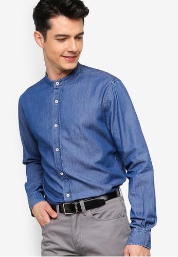 Brooks Brothers 海軍藍色 鈕釦丹寧襯衫 7BA4DAA7F4F382GS_1